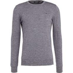 Swetry klasyczne męskie: J.LINDEBERG LYLE Sweter black mouline