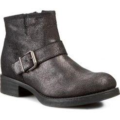 Botki UNISA - Isun  Baby Metal Plomo. Czarne buty zimowe damskie marki Unisa, ze skóry, na obcasie. W wyprzedaży za 269,00 zł.
