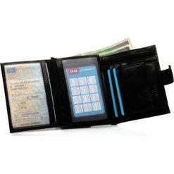 Portfele męskie: Elegancki czarny skórzany męski portfel SOLIER RFID secure