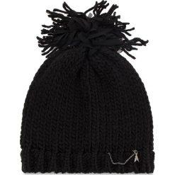Czapka PATRIZIA PEPE - 2V8389/A3IO-K157 Black Melange. Czarne czapki zimowe damskie marki Patrizia Pepe, ze skóry. W wyprzedaży za 249,00 zł.