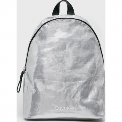 Calvin Klein - Plecak. Szare plecaki damskie marki Calvin Klein, z bawełny. Za 349,90 zł.