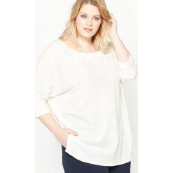 Obszerna koszulka. Szare bluzki damskie marki La Redoute Collections, m, z bawełny, z kapturem. Za 69,30 zł.