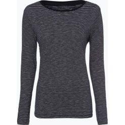 S.Oliver Casual - Damska koszulka z długim rękawem, niebieski. Niebieskie t-shirty damskie s.Oliver Casual, s, z klasycznym kołnierzykiem. Za 79,95 zł.