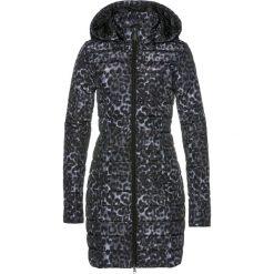 Płaszcz pikowany z nadrukiem bonprix czarno-szary z nadrukiem. Czarne płaszcze damskie bonprix, z nadrukiem. Za 189,99 zł.
