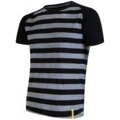Odzież termoaktywna męska: Sensor Koszulka Termoaktywna Merino Wool Active M Paski Black S