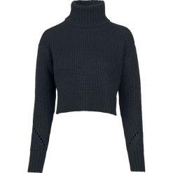 Urban Classics Ladies HiLo Turtleneck Sweater Sweter z dzianiny czarny. Czarne golfy damskie Urban Classics, l, z dzianiny, z krótkim rękawem. Za 62,90 zł.