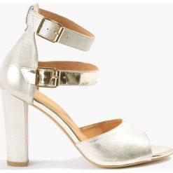 Sandały złote Klara. Czarne sandały damskie marki Badura, z materiału, na sznurówki. Za 151,99 zł.