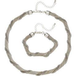 Bransoletki damskie: Łańcuszek + bransoletka (2 części) bonprix srebrny kolor