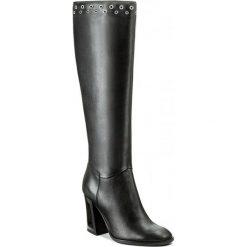 Kozaki EVA MINGE - Izabelle 2P 17SF1372248EF 101. Czarne buty zimowe damskie Eva Minge, ze skóry, na obcasie. W wyprzedaży za 349,00 zł.