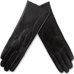 Rękawiczki Damskie WITTCHEN - 39-6L-225-1 Czarny. Czarne rękawiczki damskie Wittchen, ze skóry. W wyprzedaży za 139,00 zł.