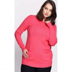 Koralowy Sweter Regularity. Pomarańczowe swetry klasyczne damskie marki Born2be, na jesień, xl. Za 79,99 zł.