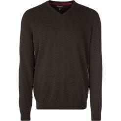 Swetry klasyczne męskie: Barbour HARROW Sweter dark brown