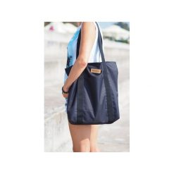 Duża torba szoperka 1 - black. Czarne torebki klasyczne damskie Militu, z tkaniny, duże. Za 179,00 zł.