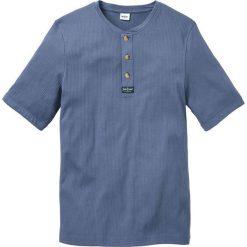 T-shirt Regular Fit bonprix niebieski dżins. Niebieskie t-shirty męskie bonprix, l, z aplikacjami. Za 44,99 zł.