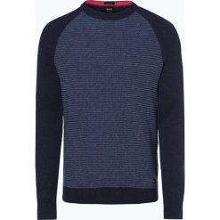 BOSS Casual - Sweter męski – Amicoso, niebieski. Niebieskie swetry klasyczne męskie BOSS Casual, m. Za 549,95 zł.