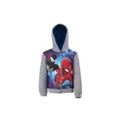 Bluza rozpinana chłopięca Spiderman. Niebieskie bluzy chłopięce rozpinane marki TXM, z motywem z bajki. Za 24,99 zł.