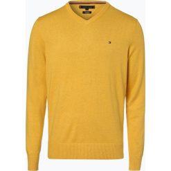 Tommy Hilfiger - Sweter męski z dodatkiem kaszmiru, żółty. Żółte swetry klasyczne męskie TOMMY HILFIGER, l, z dzianiny. Za 449,95 zł.