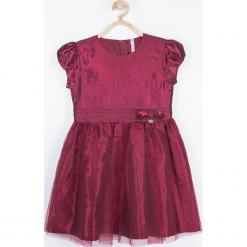 Sukienka. Czerwone sukienki dziewczęce z krótkim rękawem ELEGANT BABY GIRL, z nadrukiem, z bawełny, eleganckie, krótkie. Za 119,90 zł.