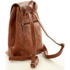 Plecaki damskie: Skórzany plecak FUNKY GO! Jasno brązowy