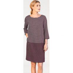 Odzież damska: Sukienka w kolorze bordowo-szarym