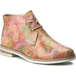 Botki CAPRICE - 9-25100-28 Rose Multi 503. Czerwone buty zimowe damskie marki Caprice, z nubiku, eleganckie, na obcasie, na sznurówki. W wyprzedaży za 239,00 zł.