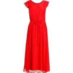 Kaffe FLAMY DRESS Długa sukienka flame scarlet. Czerwone długie sukienki Kaffe, z materiału, z długim rękawem. W wyprzedaży za 471,20 zł.