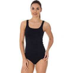 Bluzki asymetryczne: Brubeck Koszulka damska comfort cool czarna r. L (TA10430)