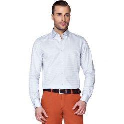 Koszula Popielata w Kratę Leppa. Szare koszule męskie na spinki LANCERTO, m, z bawełny. W wyprzedaży za 149,90 zł.