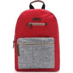Plecaki męskie: Plecak w kolorze czerwono-szarym – 30 x 41 x 13 cm