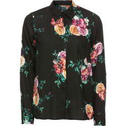 Bluzki damskie: Bluzka w kwiaty bonprix czarny w kwiaty