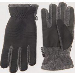 Rękawiczki z łączonych materiałów - Czarny. Czarne rękawiczki męskie House, z materiału. Za 59,99 zł.