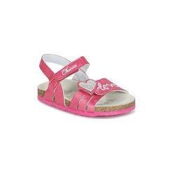 Sandały Dziecko  Chicco  HELLA. Czerwone sandały dziewczęce marki Born2be, z materiału, z otwartym noskiem, na zamek. Za 159,20 zł.