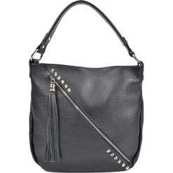 Torebka w kolorze czarnym - (S)34,5 x (W)31 x (G)8 cm. Czarne torebki klasyczne damskie Bestsellers bags, w paski, z materiału. W wyprzedaży za 259,95 zł.