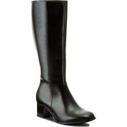 Kozaki KABAŁA - 240-532-527-1-00-01-01 Czarny. Czarne buty zimowe damskie Kabała, ze skóry, przed kolano, na wysokim obcasie. W wyprzedaży za 379,00 zł.