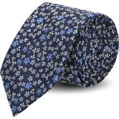Krawat platinum granatowy classic 240. Niebieskie krawaty męskie Recman. Za 49,00 zł.