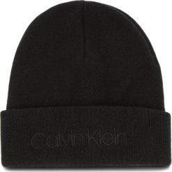 Czapka CALVIN KLEIN - Casual Beanie M K50K504121 001. Czarne czapki męskie Calvin Klein, z kaszmiru, casualowe. Za 179,00 zł.