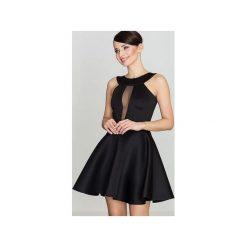 Sukienka K270 Czarny. Czarne sukienki na komunię marki Lenitif, xl, z dekoltem na plecach, dopasowane. Za 139,00 zł.