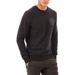 Sweter w kolorze ciemnoszarym. Szare swetry klasyczne męskie GALVANNI, m, z okrągłym kołnierzem. W wyprzedaży za 139,95 zł.