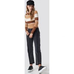MANGO Proste jeansy - Grey. Zielone jeansy damskie marki Emilie Briting x NA-KD, l. Za 202,95 zł.