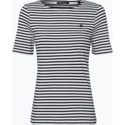 Marc O'Polo - T-shirt damski, czarny. Czarne t-shirty damskie Marc O'Polo, s, w paski, z dżerseju, z klasycznym kołnierzykiem. Za 119,95 zł.
