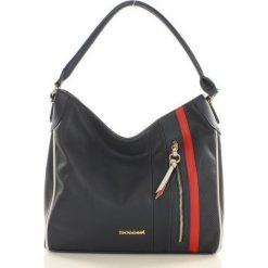 Torebki klasyczne damskie: Ponadczasowa torebka z kieszonką granatowa MARIA