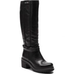 Kozaki EVA MINGE - Orihuela 4Y 18SM1372505EF 101. Czarne buty zimowe damskie Eva Minge, ze skóry, na obcasie. Za 629,00 zł.