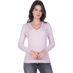"""Swetry klasyczne damskie: Sweter """"Gullane"""" w kolorze jasnoróżowym"""