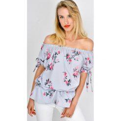 Bluzki damskie: Bluzka hiszpanka w kwiaty