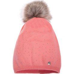 Czapki zimowe damskie: Różowa ciepła czapka QUIOSQUE