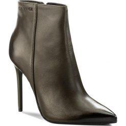 Botki EVA MINGE - Maribel 17BD1372198EF 115. Zielone buty zimowe damskie Eva Minge, z materiału, na obcasie. W wyprzedaży za 319,00 zł.