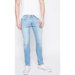 Guess Jeans - Jeansy. Szare jeansy męskie skinny marki Guess Jeans, l, z aplikacjami, z bawełny. W wyprzedaży za 329,90 zł.
