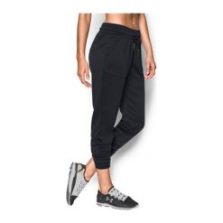 Bryczesy damskie: Under Armour Spodnie damskie Storm Armour Fleece Lighweight Jogger czarne r. XL (1280695-001)