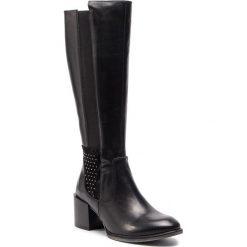 Kozaki SERGIO BARDI - Carpanzano FW127363818RB 601. Czarne buty zimowe damskie Sergio Bardi, z materiału, przed kolano, na wysokim obcasie. W wyprzedaży za 309,00 zł.