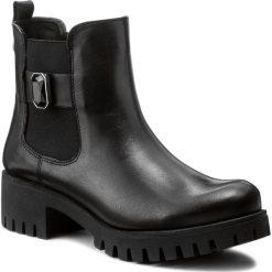 Botki KARINO - 2443/076-M Czarny. Fioletowe buty zimowe damskie marki Karino, ze skóry. W wyprzedaży za 189,00 zł.